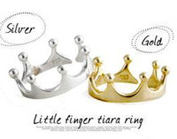 alloy to buy - Latest Fashion Mad Rush To Buy The Fairy Tale Series Retro Crown Ring Jewelry Little Finger Tiara Ring Jewellry Accessories Factory Direct