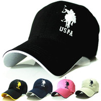 Wholesale summer style polo hat snapback hats baseball cap golf hats hip hop fitted gorras casquette black summer hats for men women