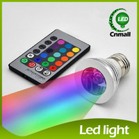Spotlight 12v gu10 led - 3W LED RGB Bulb Color Changing W LED Spotlights RGB led Light Bulb Lamp E27 GU10 E14 MR16 GU5 with Key Remote Control V V