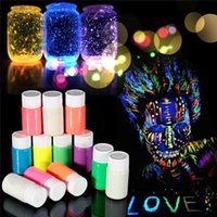 acrylic based paints - Hot Sale Fluorescent UV Grow In The Dark Body Paint Face Painting Acrylic Paints Art for Party Halloween Make Up Water based