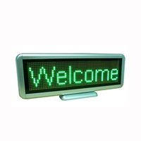 display board - LED Message Board LED Advertising Display Green Characters LED Display Board Aluminum Alloy And Plastic Materials Long Working Time C1664G