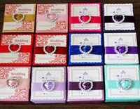 Wholesale Personalized Card Wedding Favors Boxes Gift One Heart New Spring Wedding Favors Candy Cake Boxes Small Size Colorful Boxes Happy Day