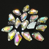 Angel bags love shoes - AX Shape Sew On Rhinestones Crystal Clear AB Galactic Sewing Glass Crystals Bride Dress Making Shoes bags