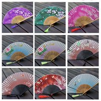 Wholesale High Quality Chinese Craft Handmade Folding Hand Fan pieces a Multi Color Wedding Dancing Party