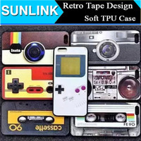cassette case - Hot sell Retro Tape Cassette Camera Design Soft TPU Silicone Back Case Cover for iPhone S Plus Plus