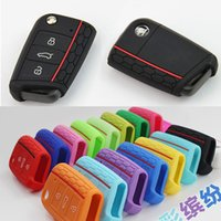 Wholesale honeycomb new silicone key fob protector covers case set skin for golf Golf7 MK7 Skoda Octavia combi A7 SEAT Leon Ibiza CUPTRA