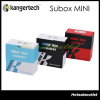 Énorme stock! Kanger Subox Mini Kit de démarrage 50W 0.3ohm Kangertech cigarette électronique de vapeur SUBOX Mini Set 510 Drip Tip 100% authentique