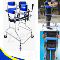 aluminum walker - walk support Aluminum Alloy Old Man folding Walking Aid Rehabilitative Rollator Equipment Elderly Stroke Hemiplegia Walker