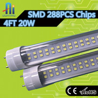 Wholesale high brightness w t8 led tube lamp ft mm smd2835 double line chips led tube