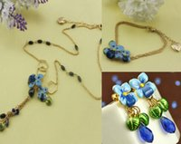 shell necklace and earring - New Betsey Johnson Fashion Jewelry bell orchid Necklaces Bracelets and Earrings