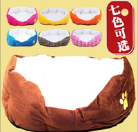 Wholesale Candy Color Soft Indoor Pets Dog Cat Puppy Bed Warm Sofa Mat Nest Cushion Color