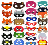 best halloween decorations - 2015 Children Halloween Cosplay Mask Party Masquerade Felt Decoration Mask Superhero Cape Performance Mask Halloween Mask Best Gift