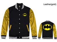 bape leather jacket - Jackets Men spring New Batman Hooded Outdoor Leather Sleeve Fashion Thin Windbreaker Outwear