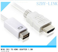 apple dvi connector - Mini DVI to HDMI cables connector cable adapter cabo kabel for Apple Macbook JB10