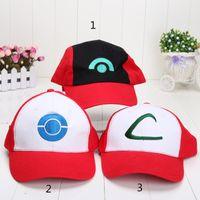 ash ketchum costumes - 10pcs Visor Cap pikachu ASH KETCHUM COSTUME Cosplay Hat style can choose
