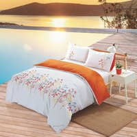 bad sheets - 2015 luxury bedding set home textile reactive print cotton quilt cover bad sheet embroidered queen king size bed linen
