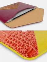 Wholesale BUSINESS waterproof anti microbial CROCO contrast color patchwork laptop liner bag