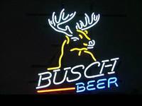 beer sign - handicraft BUSCH BEER NEON SIGN REAL GLASS BAR LIGHT BEER PUB SIGNS quot