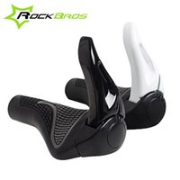 Wholesale ROCKBROS MTB Bike Bicycle Components Bar ends Rubber Grips Aluminum Barend Handlebars Ergonomic Push On Soft Grips
