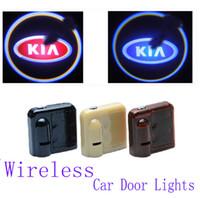 Wholesale 2X9TH Car Led Door Lights for Kia k2 k3 k5 rio sportage ceed cerato sorento Series Logo Projector Welcome Projector Shadow Car door light