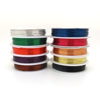 Cheap Wholesale 10 Roll lot Mix Colors 0.3 0.4 0.5 0.6 0.7 0.8 1mm Metal Steel Wire Copper Wire For Beading Jewelry Cord Thread