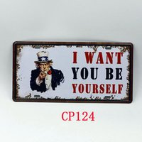 Wholesale CP124 Be Yourself license plate Vintage Metal Tin Signs Bar Pub Cafe Home Art Metal Signs Size cm