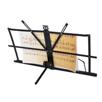 sheet metal - Folding Tabletop Music Stand Metal Sheet Foldable Music Holder with Waterproof Carry Bag Top Quality I961