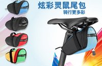Wholesale fashion men and women Bicycle sport cycling bags rear Pack mountain Bike tail bag saddle Packet color