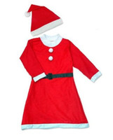 Wholesale 2015 new in Santa Claus clothes women kais girl clothing Christmas Plush Adult Christmas Costume set SD