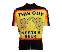 beer wear - Funny cartoon bike clothes Classic Creative This Guy Needs A Beer Cycling Jersey Short Sleeve novelty Bike Shirt special wear