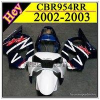 Wholesale ABS fairing for Honda CBR954RR blue and white RR Fairing CBR RR