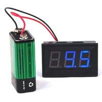 Wholesale IMC Blue LCD Digital DC V V Panel Detector Volt Meter Voltmeter Tester Monitor order lt no track