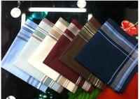 Wholesale 100 cotton handkerchiefs Classical Plaid Cotton Men s Handkerchief Steady Elegant Square Pocket Scarf Hankerchief H2010168