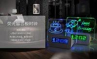 Wholesale USB luminous fluorescent message board alarm practical gift ideas birthday gift to send boys and girls girlfriend boyfriend
