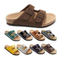 Wholesale Fashion Birkenstock Men Flat Sandals Platform Cheap Summer Slippers Home Casual Beach Sandals High Quality