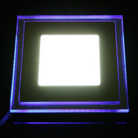 acrylic casting - 10W Square Die casting aluminum Acrylic material mini LED Panel Light Recessed Ceiling Panel Light Warm White Cool White