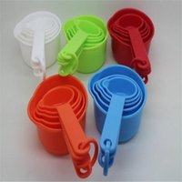 Wholesale 11pcs Multicolor Plastic Measuring Spoons Cups Measuring Set Tools For Baking Coffee Kitchen Ware Measuring Cups