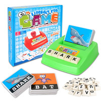 alphabet flashcard games - Children s Figure Colorful Card Spelling English Game Platter Puzzle Flashcards Spell Words Early Learning Educational Toys
