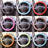 Wholesale New Silicone Steering Cover Wheel Texture Cover High Quality Fashion Leather Texture Car Auto Glove Colors