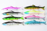 Wholesale 125mm Artificial Fishing Lure Segment Hard Bait Life like Fishing Baits Fish Lures With Hooks F006A