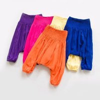 Cheap 2016 Spring New Kids Candy Color Harem Pants Ruffles Design Multi Color Spring Summer Fall Casual Loose Pants Wholesale