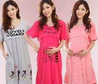 dresses for pregnant women - Women Short Maternity Dresses Breastfeeding Clothes for Pregnant Women Blouses and Shirts Set DH04