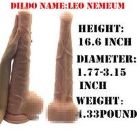 Cheap J-SUN 100% waterproof sex dildo horse dildo, big black cock for women ,realistic dildo With Suction Cup