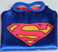 Wholesale 30pcs Superhero cape CAPE MASK cm back Super Hero Costume for Children Halloween Party Costumes for Kids Children s Costume