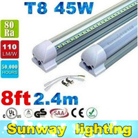 high white - led tube lights ft ft ft ft Integrated T8 Tube Lights SMD2835 lm W High Bright Frosted Transparent Cover AC V UL DLC