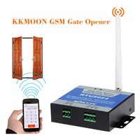 Wholesale New Arrival KKMOON Door GSM Gate Opener GSM Alarm System Remote On Off Switch Free Call SMS Command Entrance Guard Controller order lt no tr