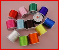 elastic cord jewelry - 80meters per roll high quality mixed colors floss elastic threads from Japan elastic stretch beading cords as jewelry findings