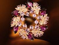 christmas brooch - Fashion Gemstone Crystal Rhinestone Small Pins Brooch Bridesmaid Flower Girl Wedding Fashion party prom brooch jewelry Christmas gifts