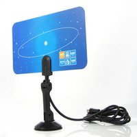 Wholesale New Items EU Plug Digital Indoor TV Antenna HD TV VHF UHF Flat Design High Gain PC