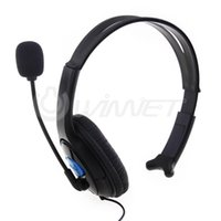 Cheap Wired Chat Headset Headphone Microphone for Sony Playstation 4 Black